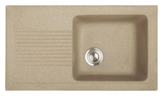 Luxury Composite Granite Single Bowl Kitchen Sink with Drainboard