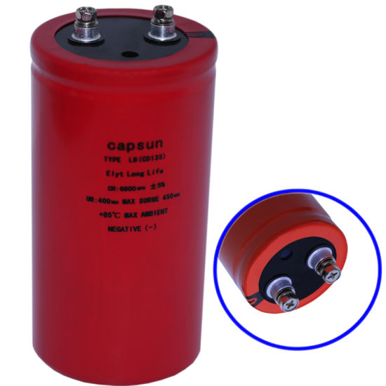 Capsun Original Brand 400V6800UF High Frequency and Low Frequency Capacitors pictures & photos