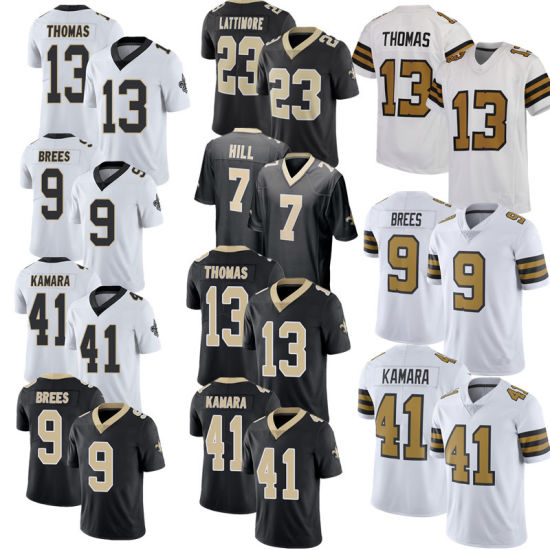 Men Women Youth Customized Embroidery 41 Kamara 9 Brees Rugby Football Jerseys