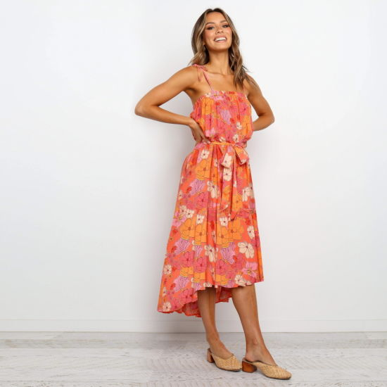 Spring and Summer Skirt Sexy Floral Casual Dress Women Clothes