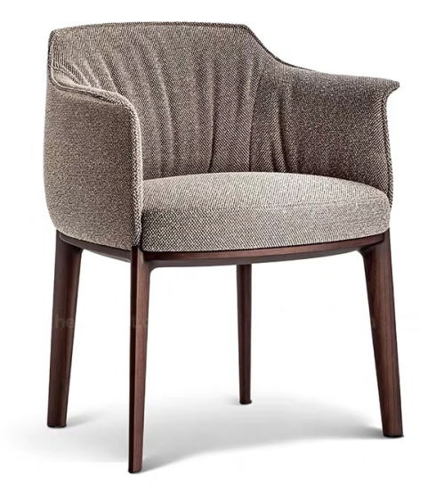 New Wooden Leg Leather Upholstery Soft Restaurant Furniture Dining Chair
