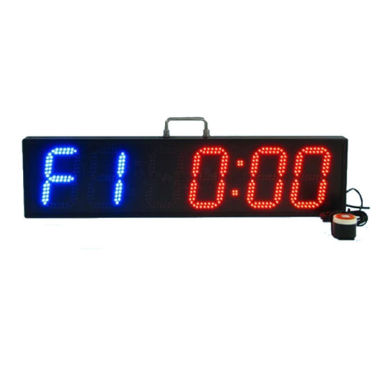 6 Inch 6-Digit LED Digital Timing Clock for Marathon Racing
