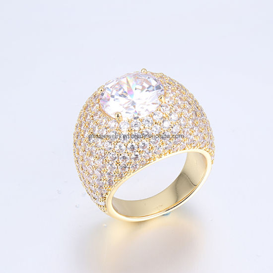 52a9bcd81db44 China Miss Jewelry New Designer Iced Mens Brass Ring Gold Jewelry ...