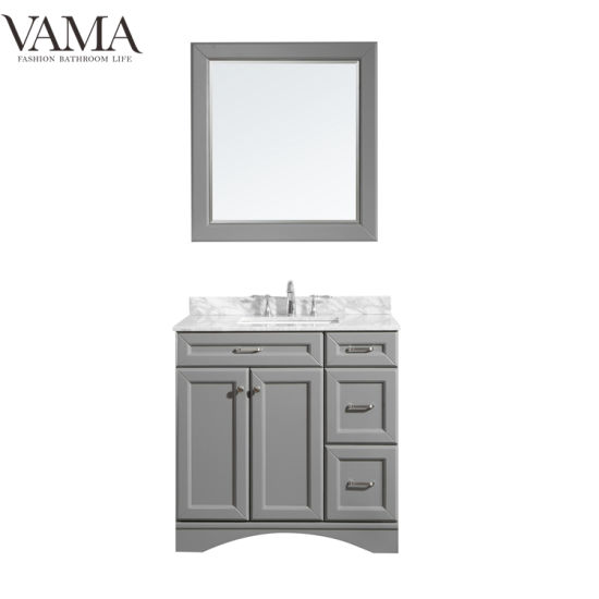 Vama 36 Inch Waterproof Floor Standing Plywood Bathroom Furniture for Apartment 710036