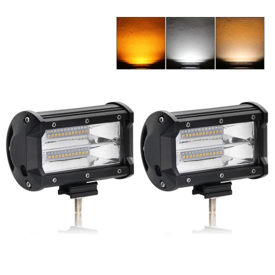 Wholesale Strobe LED Light Bar 8000lm 72W 5inch LED Car Bar Spot Lights