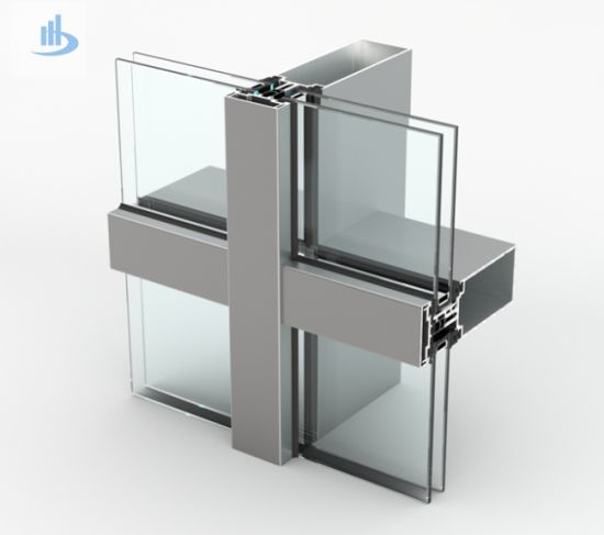 Double Glazed Aluminum Exposed Frame for Glass Curtain Wall