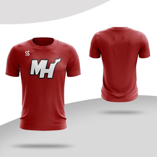 High Quality Custom Tshirts Sublimated Printing Round-Neck T Shirt