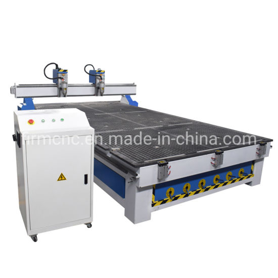 Two Heads Wood CNC Router 3D Carving Cutting Machine Working Machinery Price