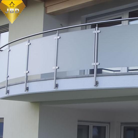 Australia Stainless Steel Glass Balustrade Inox Balcony Railing for Balcony or Staircase (JBD-B009)