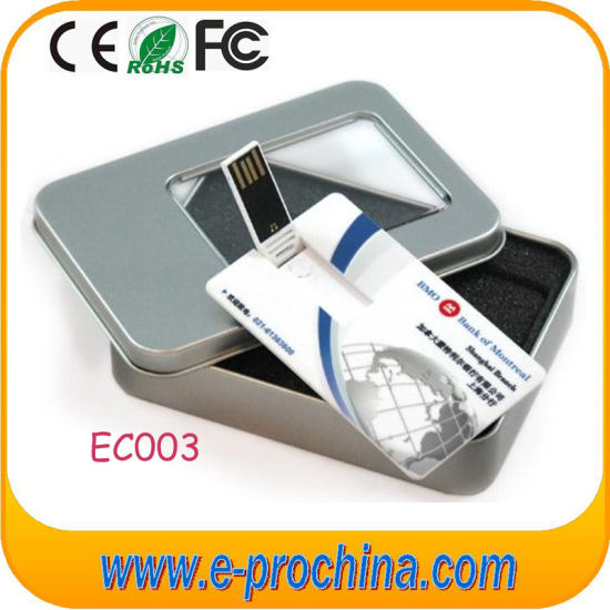 Customized Logo Business Card Memory Disk USB Flash Stick (EC003) pictures & photos