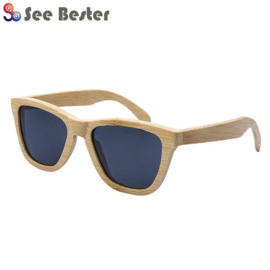 007221a6480 Ce Handmade Wholesale in China Men Women Brand Designer Wooden Bamboo  Sunglasses 2018