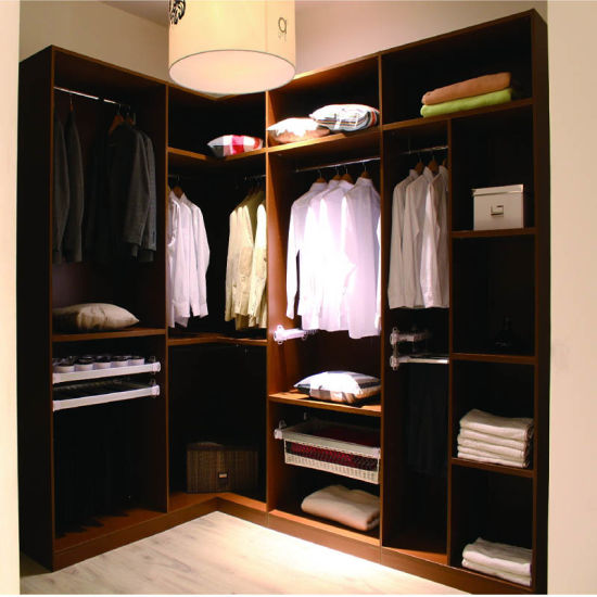 China Cheap L Shaped Wood Wardrobe With Sliding Door And Opening