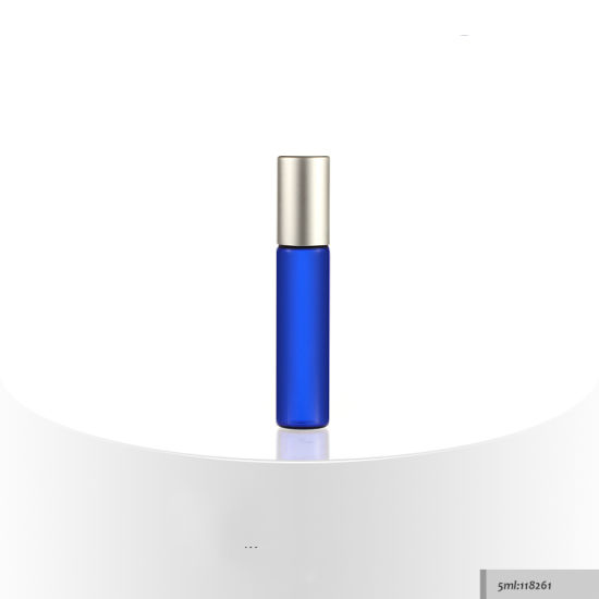 3ml 5ml 10ml Roll on Blue Cosmetic Serum Bottle, Glass Cosmetic Bottle, Cosmetic Bottle pictures & photos