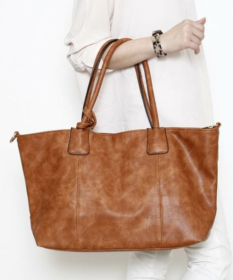 8ff2c12169 China Women Handbags Stylish Bag Cow Leather Grain PU Ladies Tote ...