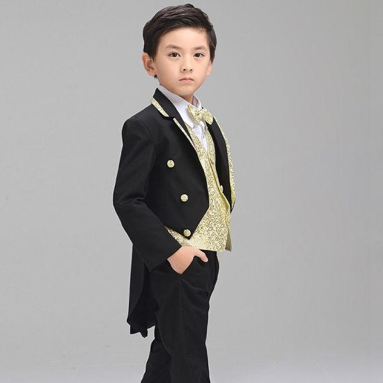 2017 Hot Wedding Custom Made Black Baby Boy Tuxedo Pictures Photos