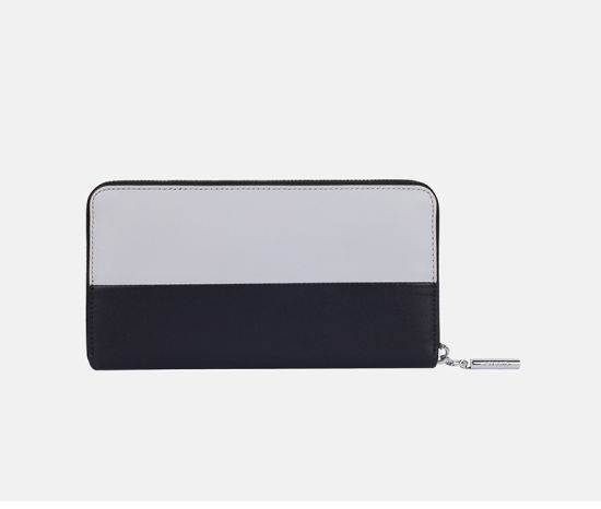 Simple Design Ladies Genuine Leather Wallet Fashion Mix Color Purse pictures & photos