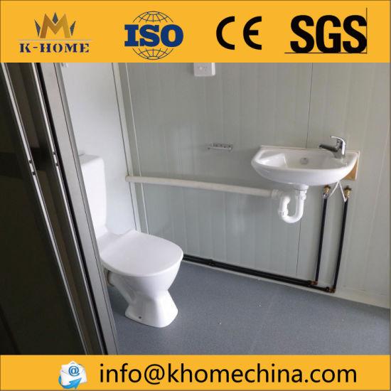 China U Steel Rock Wool Panel Made Prefabricated Toilet China