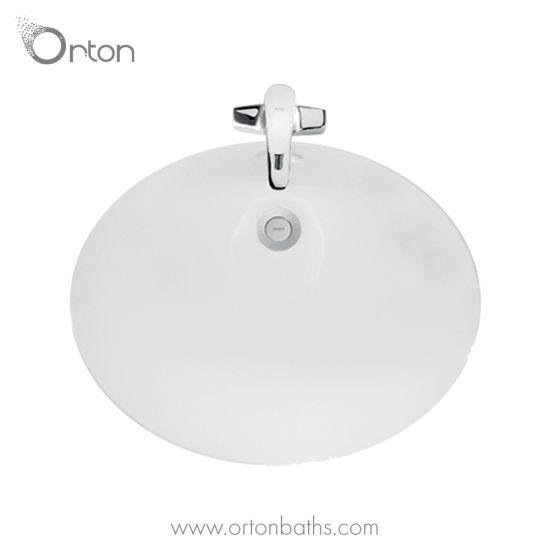China Undermount Bathroom Sink In White