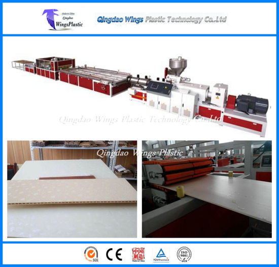 WPC Hollow Profile Board / WPC Decorative Ceiling Wall Panel Extrusion Making Machine pictures & photos