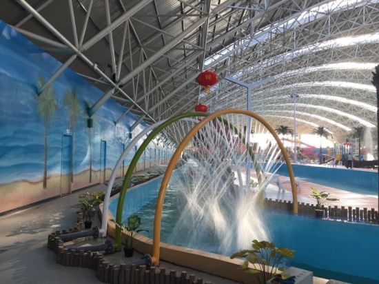 Customized Used Fiberglass Water Park Game Lazy River Supplier