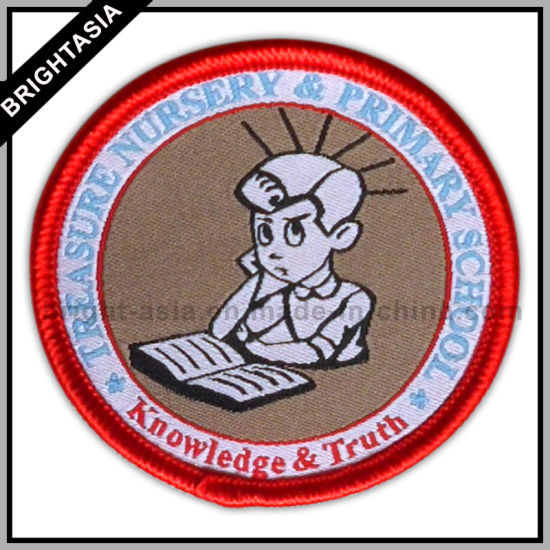 China Student Woven Patch for School Clothing Label (BYH