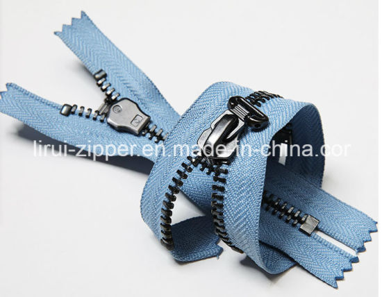 Metal Zipper/Double-Tailed Zipper/Custom-Made/Top Fashion/High Quality /Designzipper Silder Forclothing/Bags