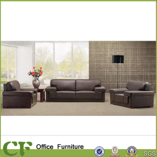 Commercial Office Room Reception Leather Pu Sofa Set