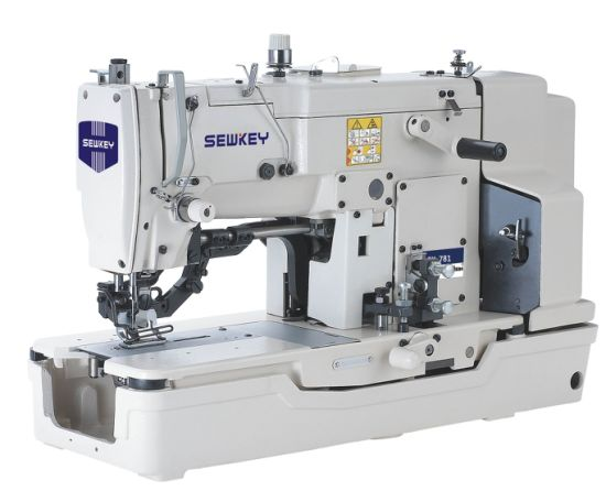 Sk781 High Speed Straight Button Holing Sewing Machine