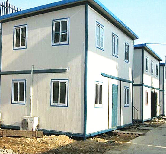 China Two-Story Prefab Steel Frame Sandwich Panel House - China ...