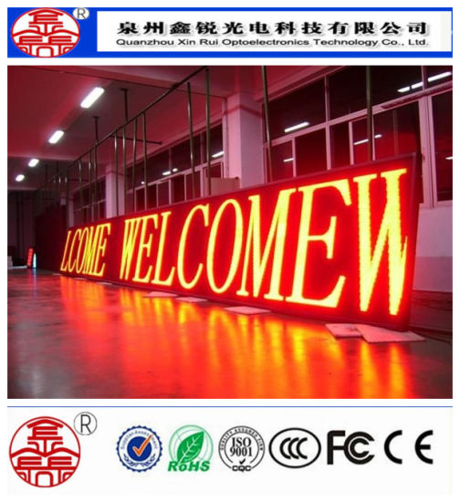 Single Color P10 Outdoor Scrolling LED Sign Display