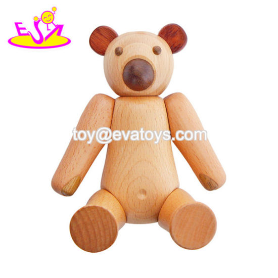 2018 Funny Mini Bear Wooden Toy Dolls for Toddlers W06D109 pictures & photos