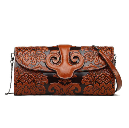 29cd61ef2a31 2017 China Factory Handmade Real Leather Ladies Clutch Bag - China ...
