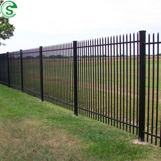 Easily Assemble 7FT Powder Coated Palisade Fencing Tubular Iron Fence