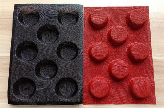 Non-Stick Silicone Perforated Baking Mat 8 Cavities for Buns Mold
