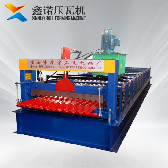 Xn 836mm Cold Steel Corrugated Iron Sheet Roofing Tile Making Forming Machine