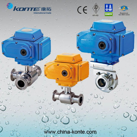 Stainless Steel Electric Sanitary Ball Valve pictures & photos