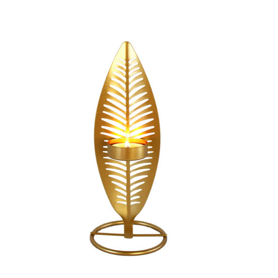 Vintage Gold Feather Shape Candle Holders pictures & photos