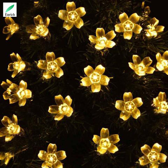 China warm white color 95meter led solar flower string lights warm white color 95meter led solar flower string lights mightylinksfo