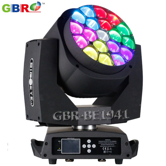 Gbr-Be1941 19X15W RGBW 4in1 LED Zoom B-Eye Moving Head Light