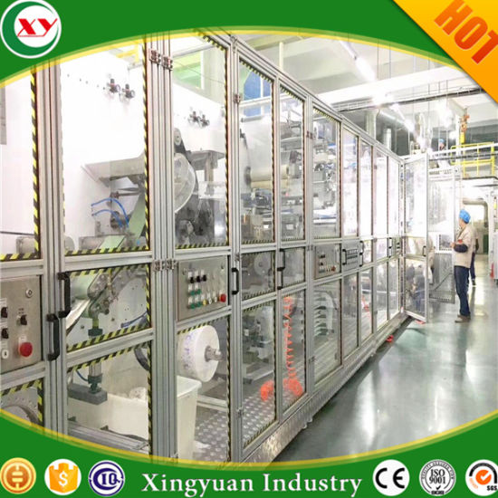 High Speed and High Quality Diaper/Napkin Pads/Wet Wipes Machine