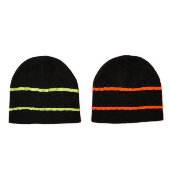 Winter Warm Fashion Knit Beanie Hat Cap with Stripe