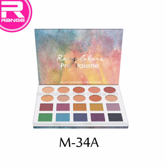 New Arrive 20 Color Eyeshadow Palette in Paper Cardboard Palette, OEM Private Label Cosmetic, Glitter Eyeshadow pictures & photos