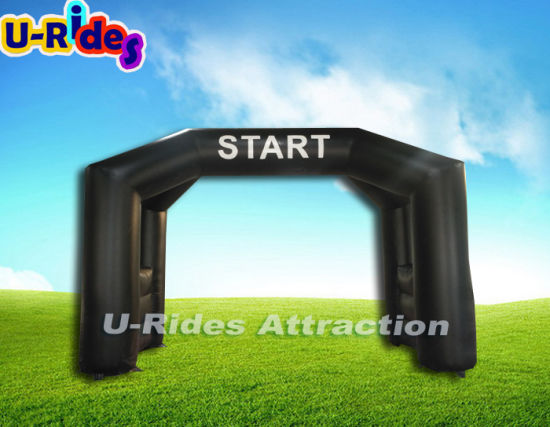 Start and Finish inflatable black colour archy for event