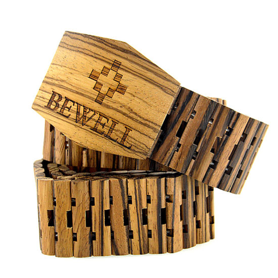 Custom Logo Fashion Men Wooden Belt From China