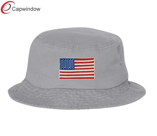 fbb9c6f1d China USA American Flag Embroidered Bucket Hat Dad Hunting Hat for ...
