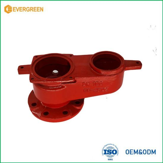 OEM Sand Casting for Pipe Connector, Iron Casting, Grey Iron Casting, Ductile Iron Casting