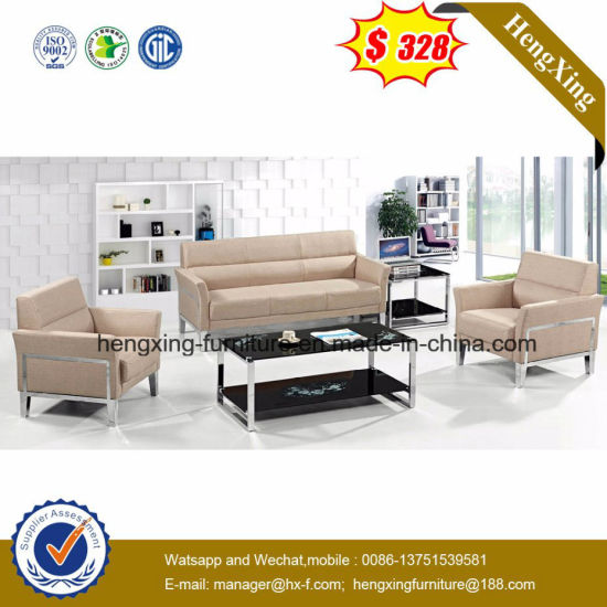 3+1+1 White Black Leisure Leather Sofa with Corner (HX-CS080) pictures & photos