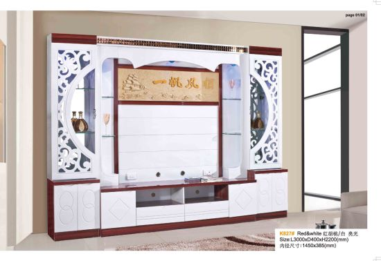 home living room furniture wood led lcd tv wall unit wall unit furniture living room35 wall