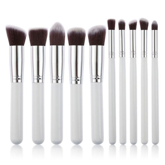 10PC Cosmetic Makeup Brush Kits with Sythetic Wool Imitation Filament pictures & photos