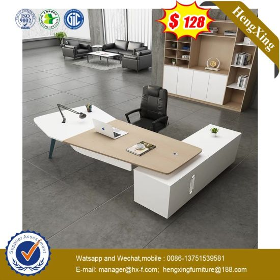 China Nordic Design Particle Board Round Model Standing Desk